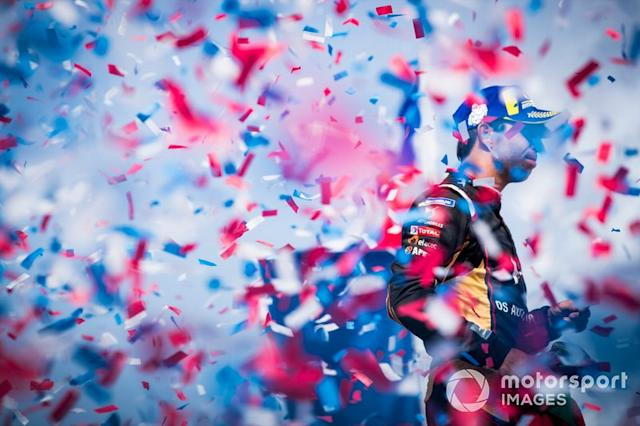 "Podio: segundo lugar Antonio Felix da Costa, DS Techeetah <span class=""copyright"">Sam Bagnall / Motorsport Images</span>"