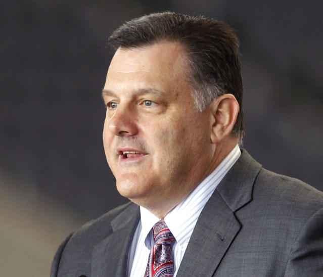Former USA Gymnastics president Steve Penny resigned last March following intensified pressure on the organization for its handling of sex abuse cases. Monday, three board members followed suit. (AP)