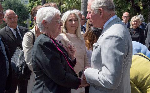 """The Prince of Wales has hailed a man who helped to stop the terrorist in the Nice truck attack as """"courageous"""" and """"remarkable"""". Charles and the Duchess of Cornwall arrived in the south of France yesterday (Mon) as part of their five-day tour of France and Greece, and paid their respects to the 86 victims of the outrage at a memorial in the city. The prince laid a bouquet of flowers at a memorial to commemorate those who lost their lives during the attack on Le Promenade des Anglaisin July 2016. Charles and Camilla then spoke to the families of some of the victims and other members of the public, with one woman shouting: """"It's an honour, it's an honour"""". The prince spoke to airport worker Franck Terrier,whoheroically triedto stop the attacker by punching him through an open window. The Prince of Wales speaking to guests after a service at the Bastille Day attack memorial in Nice, France. Credit: Arthur Edwards/The Sun/PA Wire/PA Mr Terrier, whoreceived the Legion d'Honneur, France's highest award, forchasing after the truck on his scooter,described the Royal visit as """"very humbling"""". He told the prince: """"I slid off my scooter and ran and climbed up to the side of the driver's cab. The window was open and I hit him. """"He hit me over the head and I fell back down to the road. But I climbed up again and hit him again."""" The 51-year-old said he had been on his way to Nice's old town and did not think of his safety when he tried to help police when the truck stopped. He added: """"The Prince said it was an honour to shake my hands and so did the Duchess."""" Anne Murris, whose daughter Camille Murris, 27, was killed in the Bastille Day attack, said she showed a collage of her to the prince. The Prince of Wales and Duchess of Cornwall are welcomed by Christian Estrosi, Mayor of Nice, and his wife Laura Tenoudji, as they arrive at the Villa Massena. Credit: Arthur Edwards/The Sun/PA Wire/PA She said she collected 86 stones from the beach in Nice and painted each one with the name """