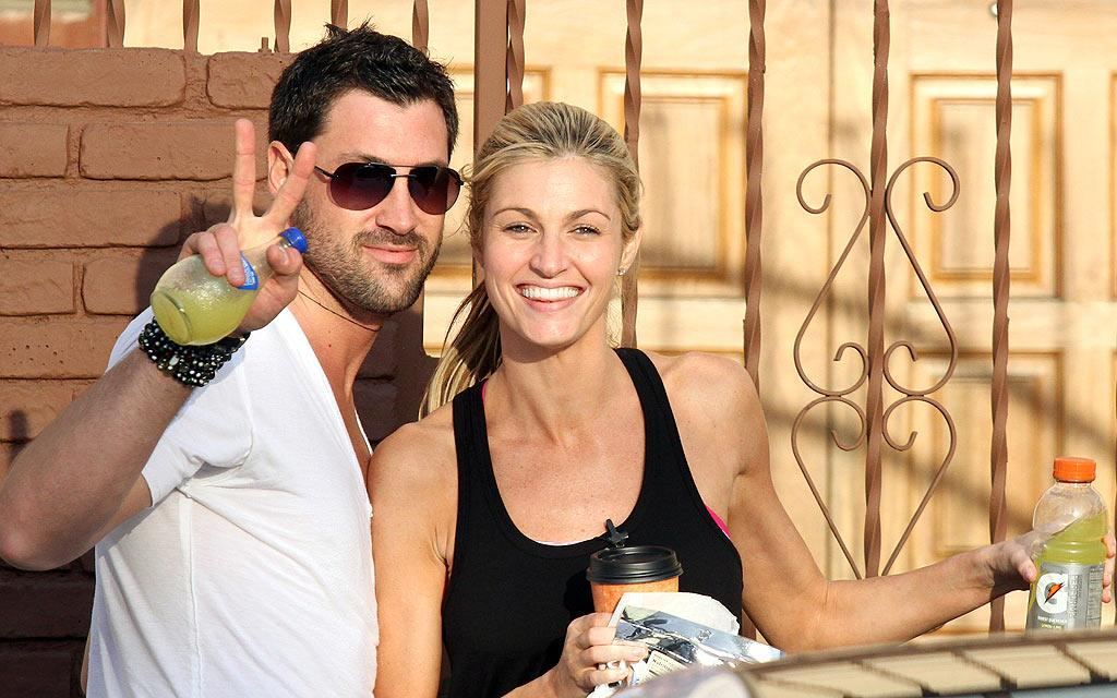 """'DWTS' Partners Erin Andrews & Maksim Are A Real Life Couple!"" declared HollywoodLife. The site noted Maksim Chmerkovskiy and Erin Andrews' ""chemistry"" and quotes a <i>People</i> magazine story, which says, ""No ['DWTS'] pair has seemed to have become quite so smitten so swiftly."" So, are the dancing duo doing another type of ""mambo"" off-camera? Check out <a href=""http://www.gossipcop.com/dancing-stars-maksim-chmerkovskiy-erin-andrews-nyet-dating-not-dwts-couple/"" target=""new"">Gossip Cop</a> to find out what a Chmerkovskiy confidante told us ... and what Andrews herself says. Jean Baptiste Lacroix/<a href=""http://www.wireimage.com"" target=""new"">WireImage.com</a> - March 24, 2010"