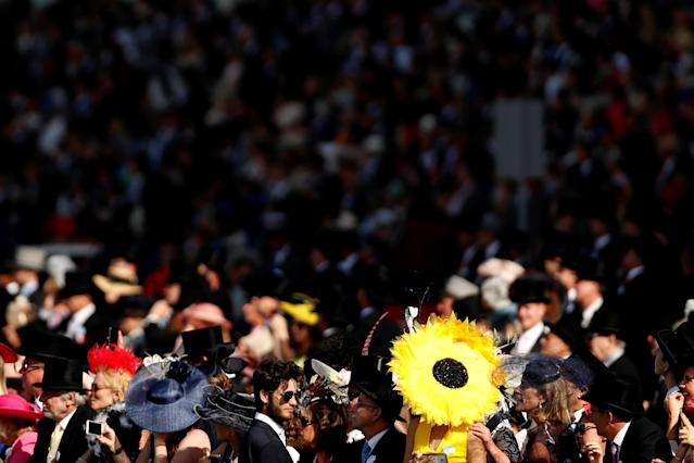 Horse Racing - Royal Ascot - Ascot Racecourse, Ascot, Britain - June 21, 2018 General view of racegoers in the stands Action Images via Reuters/Andrew Boyers