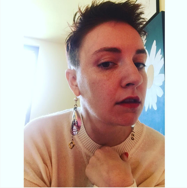<p>Lena Dunham is having fun with her hair and making sure the world knows it. (Photo: Instagram/lenadunham) </p>