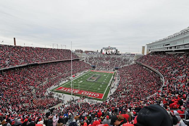 The two Ohio State football players accused of raping a woman in Columbus have been dismissed from the program. (Photo by Jamie Sabau/Getty Images)