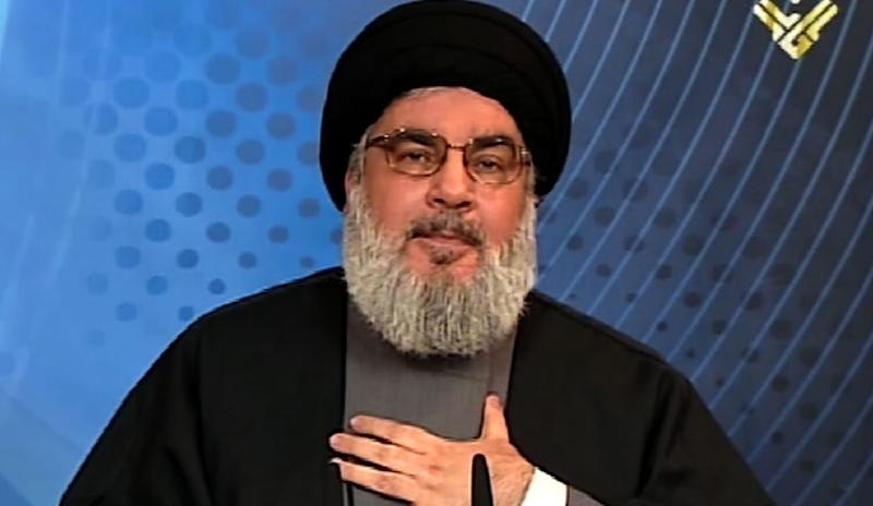 An image grab taken from Hezbollah's al-Manar TV on March 27, 2015 shows Hassan Nasrallah, the head of the militant Shiite Muslim movement, giving a televised address from an undisclosed location in Lebanon