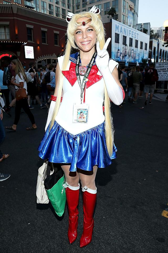<p>Cosplayer dressed as Sailor Moon at Comic-Con International on July 20, 2018, in San Diego. (Photo: Phillip Faraone/Getty Images) </p>