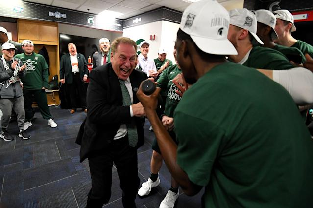 Tom Izzo (center) and the Michigan State Spartans might be the favorite to win it all, but the other three Final Four teams have a wealth of experience, too. (Getty)