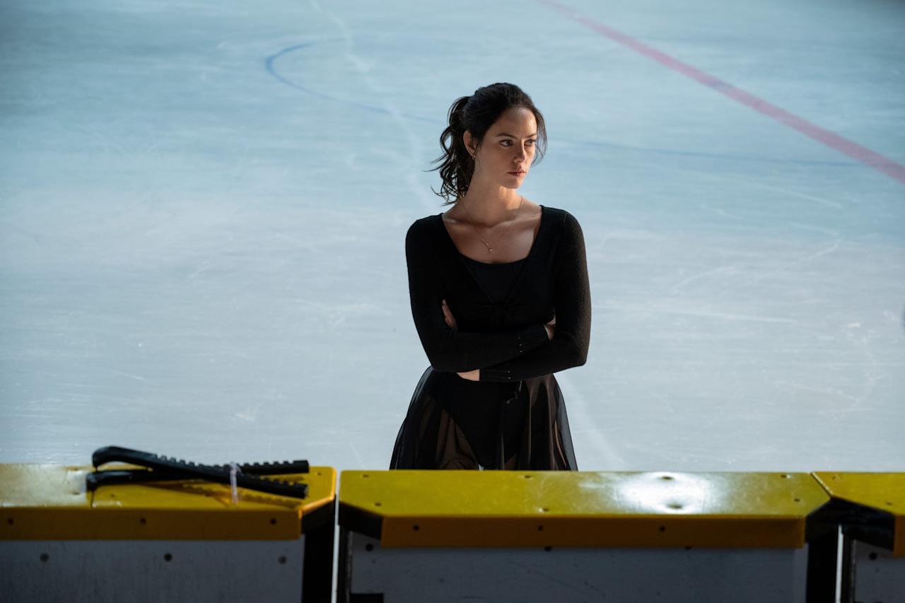 <p>The entire premise of <strong>Spinning Out</strong> relies on the fact that its leading lady, Kat, is a former singles skater who is forced to quit because of a physically and mentally traumatic injury. In the opening minutes of the first episode, we see a flashback to the day of her accident, and it's intense and a little bit graphic, with blood from her injury seen on screen without cutting away. Even though it's framed as a flashback, so we know Kat is OK, it's still a scary moment right off the bat.</p> <p>Kat's isn't the only nasty accident seen almost immediately: a pairs skater sustains a terrifying injury to her foot when her partner's blade comes too close. If your child (or you) is sensitive to depictions of injury, be forewarned.</p>