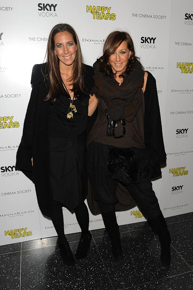 """<a href=""""http://movies.yahoo.com/movie/contributor/1808948028"""">Donna Karan</a> and daughter Gabby at the New York Cinema Society screening of <a href=""""http://movies.yahoo.com/movie/1810027690/info"""">Happy Tears</a> - 02/16/2010"""