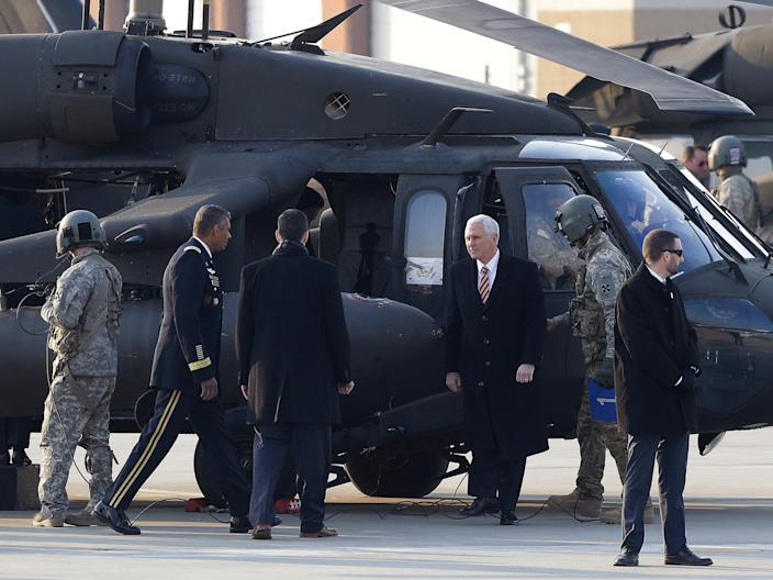 Vice President Mike Pence helicopter
