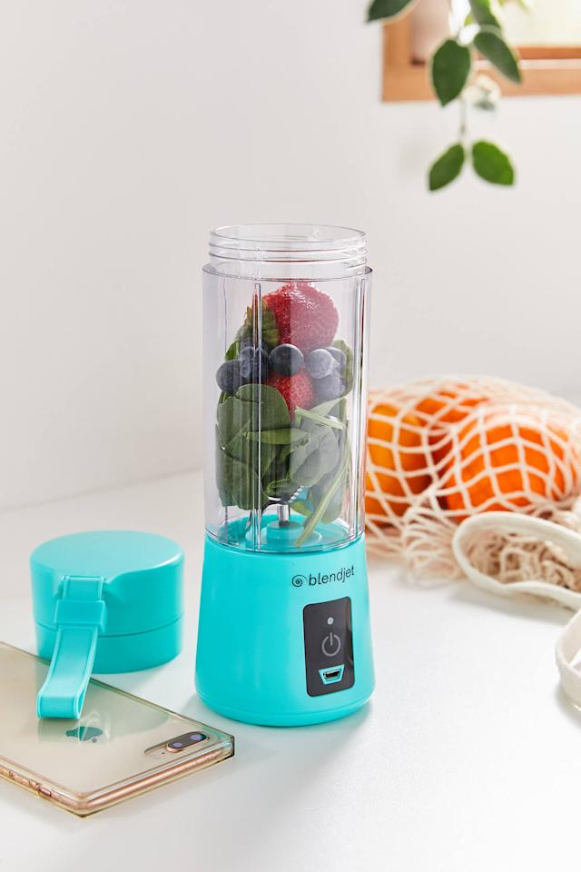 "<p>Start your day off right with this <a href=""https://www.popsugar.com/buy/BlendJet-One-Portable-Blender-539573?p_name=BlendJet%20One%20Portable%20Blender&retailer=urbanoutfitters.com&pid=539573&price=40&evar1=yum%3Aus&evar9=45643003&evar98=https%3A%2F%2Fwww.popsugar.com%2Ffood%2Fphoto-gallery%2F45643003%2Fimage%2F47102729%2FBlendJet-One-Portable-Blender&list1=gadgets%2Ckitchen%20accessories%2Chome%20shopping&prop13=api&pdata=1"" rel=""nofollow"" data-shoppable-link=""1"" target=""_blank"" class=""ga-track"" data-ga-category=""Related"" data-ga-label=""https://www.urbanoutfitters.com/shop/blendjet-one-portable-blender?category=small-appliances&amp;color=102&amp;quantity=1&amp;size=ONE%20SIZE&amp;type=REGULAR"" data-ga-action=""In-Line Links"">BlendJet One Portable Blender</a> ($40).</p>"