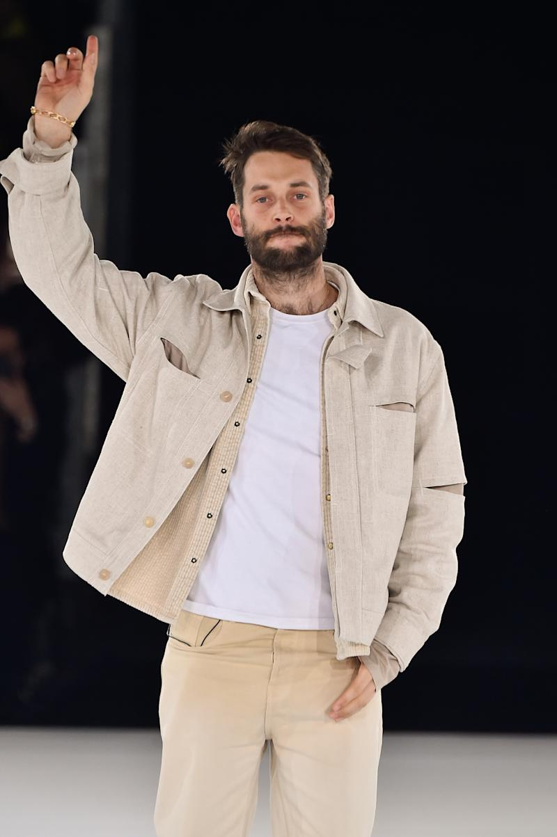 Simon Porte Jacquemus (pictured in January) unveiled the images of his grandmother modelling his latest collection on Instagram (Getty Images)