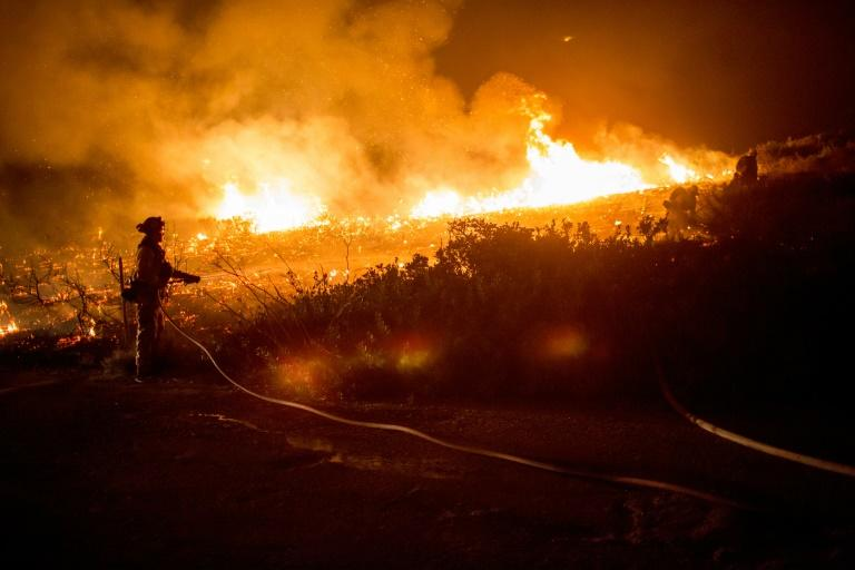 "Firefighters battle the ""Thomas Fire"" in Ventura County"
