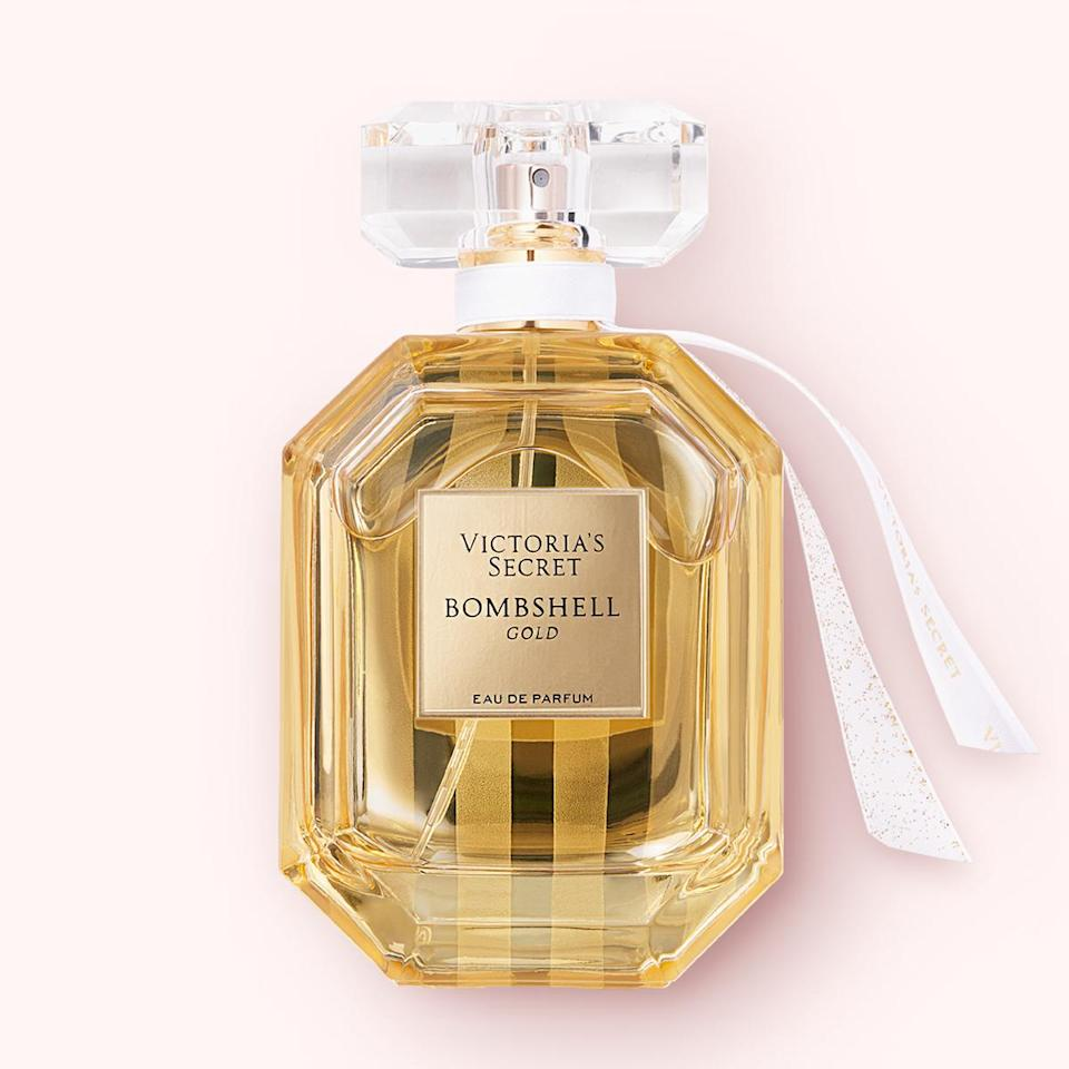 """<p>""""A perfume is always a great present to give, because when the wearer smells it, they always remember you. Bombshell Gold has a warm, lingering scent and the packaging is cute and fancy – perfect for the holidays.""""</p> <p><strong>Buy It!</strong> $78; <a href=""""https://www.victoriassecret.com/us/beauty/beauty-catalog/1117530800?genericId=11175309&choice=1159&cm_mmc=PLA-_-GOOGLE-_-VSD_GS+-+VSB+-+Brand%2BProduct+-+Perfume+-+P3-_-Type_Women%27s+Fragrances&gclid=Cj0KCQjwreT8BRDTARIsAJLI0KLzd0RFFov7b08muzb0P9nFJsUfo17Fwu_SSv_tuY9cZUCsyKLjOkAaAv92EALw_wcB&gclsrc=aw.ds"""" rel=""""nofollow noopener"""" target=""""_blank"""" data-ylk=""""slk:victoriasecret.com"""" class=""""link rapid-noclick-resp"""">victoriasecret.com</a></p>"""