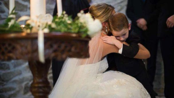 PHOTO: On September 23, Katie Musser mentioned her stepson Landon, 4, and his mother, Casey Bender, in her vows to emphasize that they're one big family on the day she married Landon's father, Jeremy Musser. (The Wise Image)
