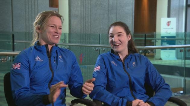 Menna Fitzpatrick is a visually impaired para-skier who will be competing for Great Britain at the Winter Paralympics in Pyeongchang in three weeks' time. Menna and her guide Jennifer Kehoe talk about their relationship and how an athlete with 5% vision can ski downhill safely at high speed.
