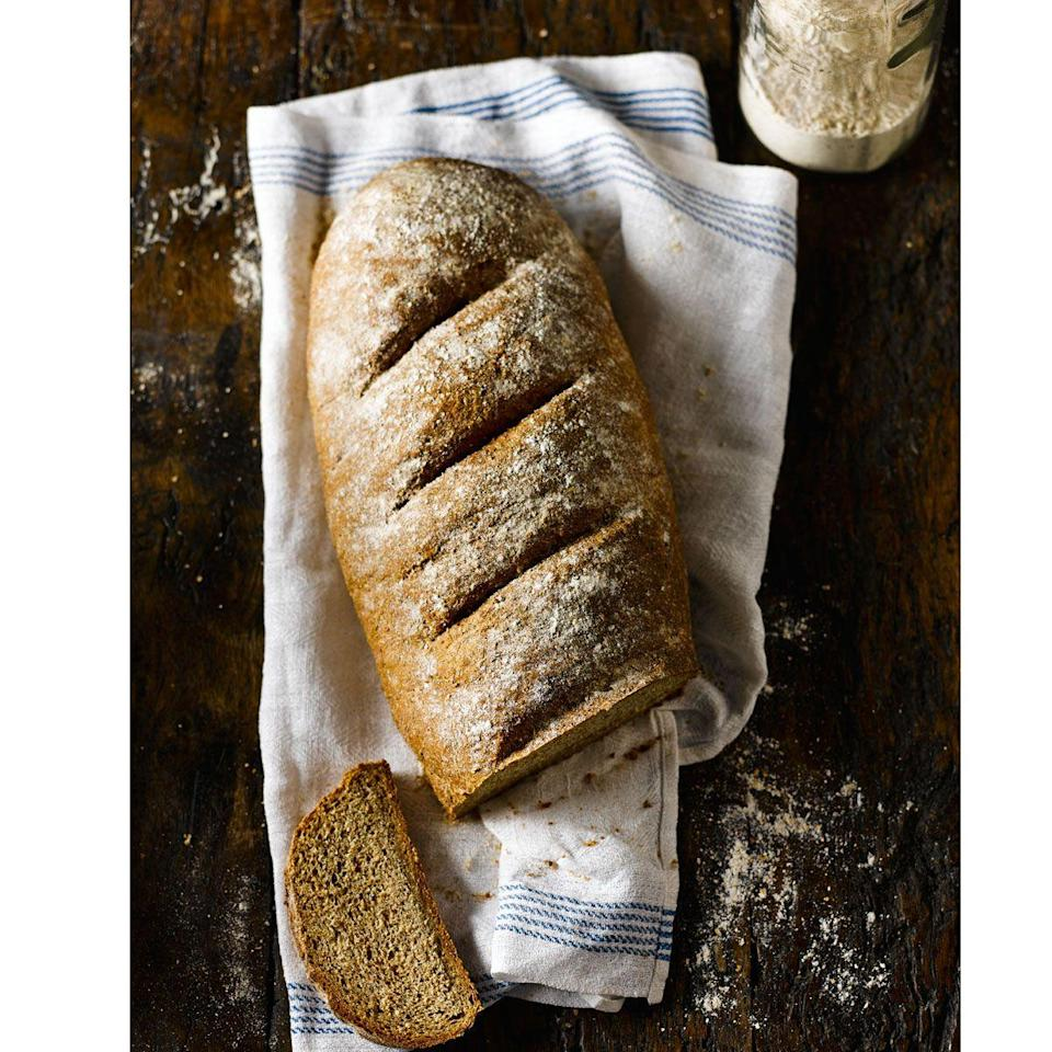 """<p>A wonderful bread for everyday. Letting the dough rise twice before the prove helps to give it a lighter texture.</p><p><strong>Recipe: <a href=""""https://www.goodhousekeeping.com/uk/food/recipes/a559249/brown-bloomer/"""" rel=""""nofollow noopener"""" target=""""_blank"""" data-ylk=""""slk:Brown Bloomer"""" class=""""link rapid-noclick-resp"""">Brown Bloomer</a></strong></p>"""