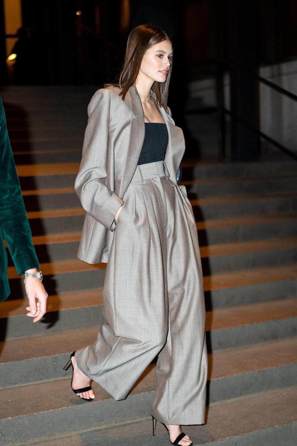 Maxi suits like this one are always a yes, especially when paired with heels.