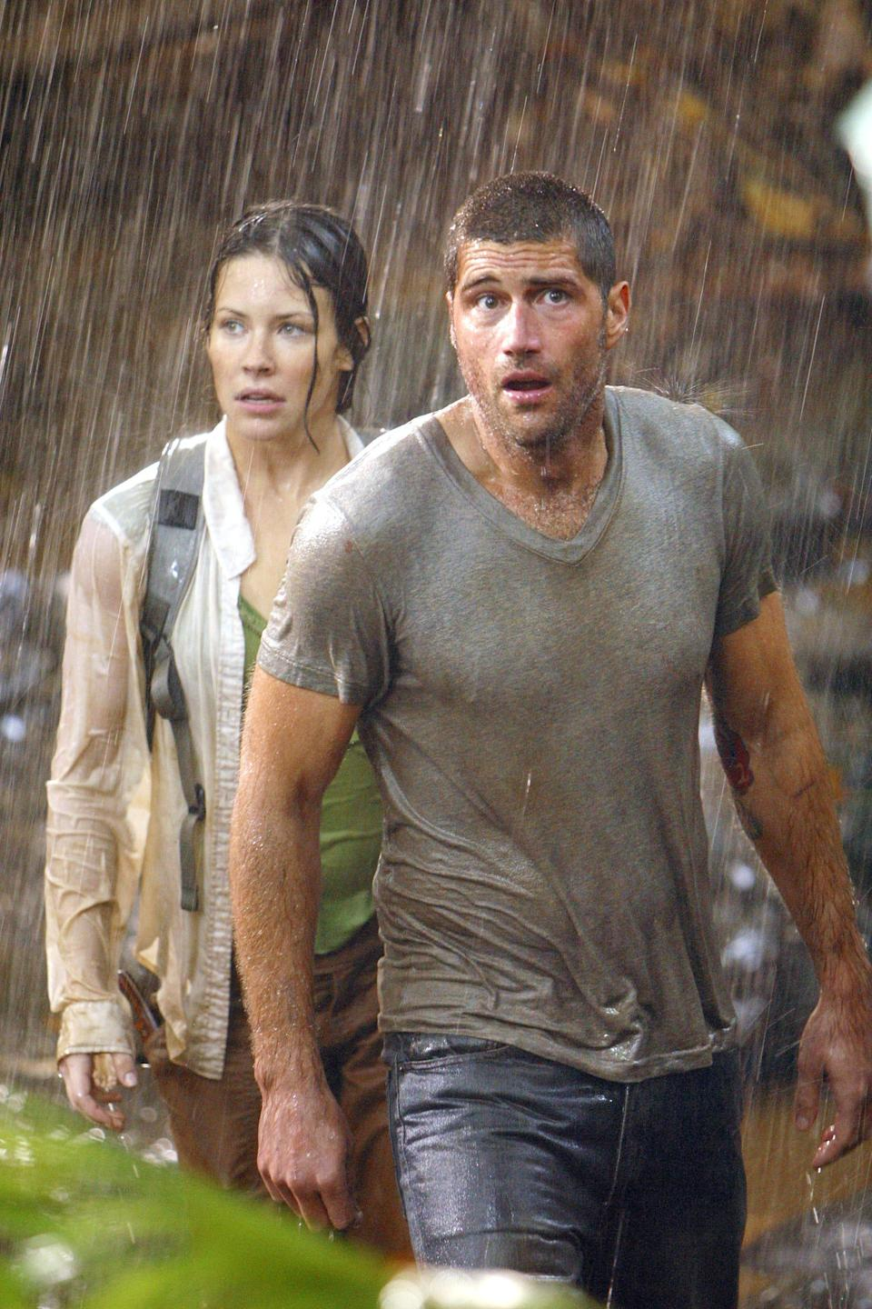 """Evangeline Lilly and Matthew Fox in a scene from """"Lost""""."""