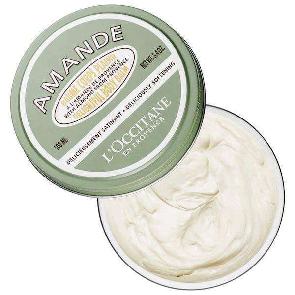 <p>This top-rated <span>L'Occitane Almond Delightful Body Balm</span> ($39) is an almond-oil-infused balm that features a creamy and non-greasy texture that locks in moisture. Put it on right after you shower so it can really sink into skin.</p>