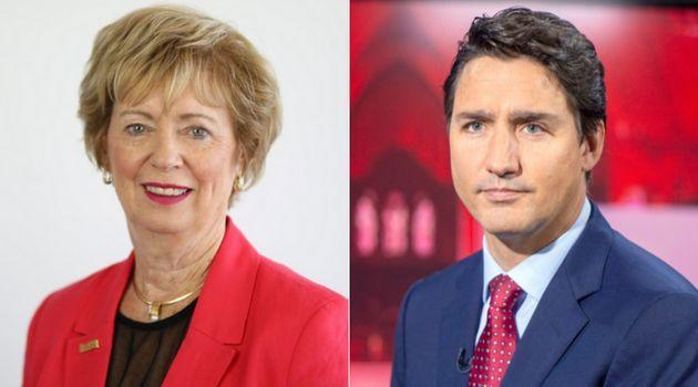 Liberal candidate Judy Sgro and party leader Justin Trudeau are shown in a composite image.