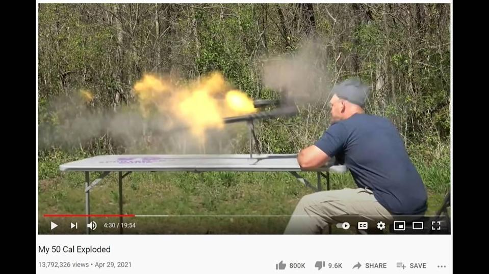 Scott DeShields, the owner of Kentucky Ballistics, had a .50-caliber gun blow up in his face. The gun's explosion nearly killed him, he says.