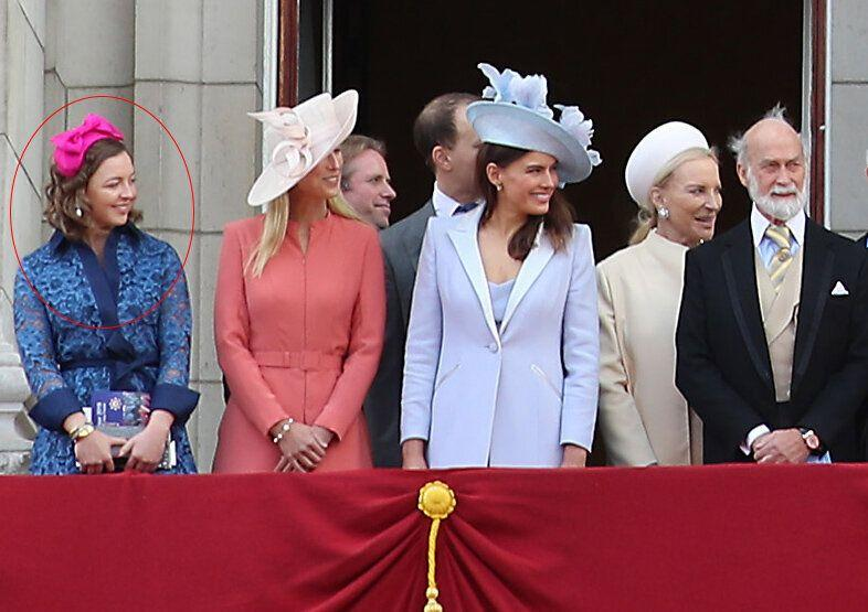 Zenouska Mowatt pictured at the Trooping the Colour 2019 on Buckingham Palace balcony