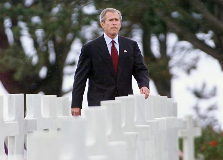 Former US president George W. Bush, pictured in Normandy, France in 2002, is one of the most prominent Republicans to acknowledge Biden's victory