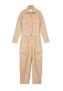 "<p><strong>The Frankie Shop</strong></p><p>thefrankieshop.com</p><p><strong>$225.00</strong></p><p><a href=""https://thefrankieshop.com/products/linda-cargo-jumpsuit-in-khaki-tan"" rel=""nofollow noopener"" target=""_blank"" data-ylk=""slk:SHOP IT"" class=""link rapid-noclick-resp"">SHOP IT</a></p><p>This utilitarian-inspired Frankie Shop jumpsuit can be worn all year long. Layer a turtleneck underneath, throw a warm coat on top, and finish off with some boots for a winter time look. Pair with some strappy sandals and gold jewelry for an easy summertime outfit. </p>"