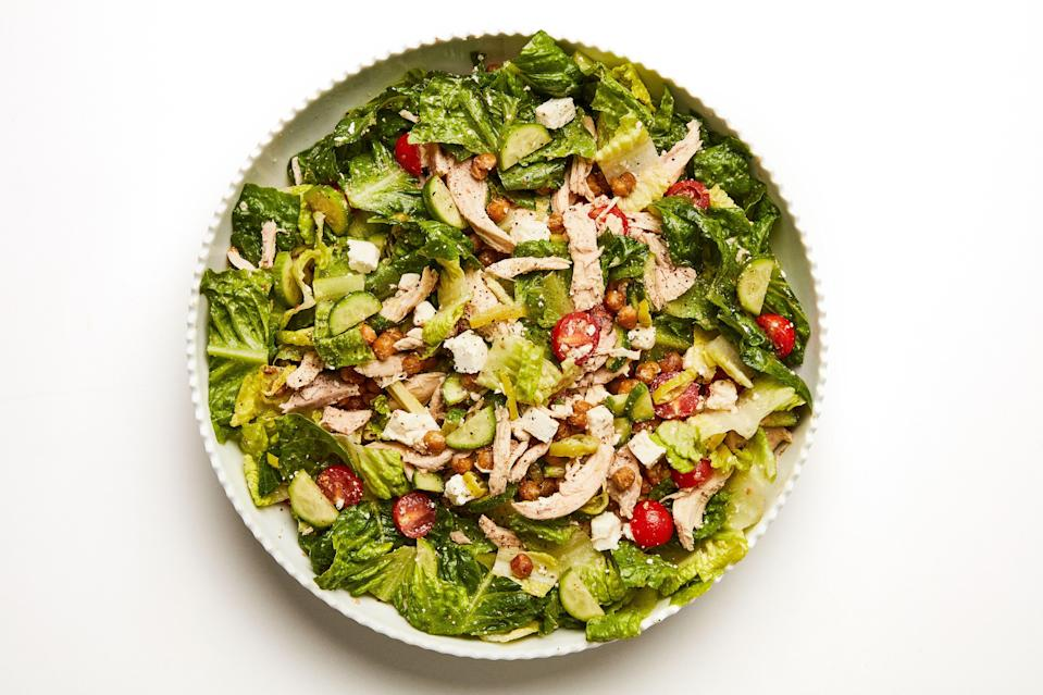 """<a href=""""https://www.bonappetit.com/recipe/chopped-dinner-salad-with-crispy-chickpeas?mbid=synd_yahoo_rss"""" rel=""""nofollow noopener"""" target=""""_blank"""" data-ylk=""""slk:See recipe."""" class=""""link rapid-noclick-resp"""">See recipe.</a>"""