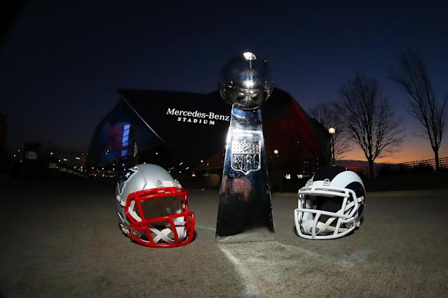 Even Mercedes-Benz, which owns the naming rights to the stadium that hosted the game, trolled the boring Super Bowl on Sunday. (Rich Graessle/Getty Images)