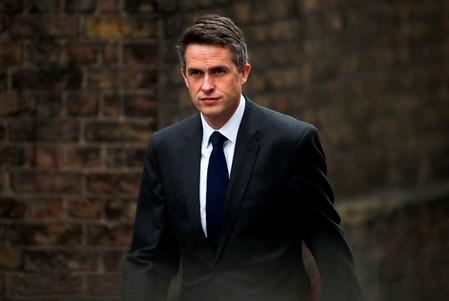 FILE PHOTO: Britain's Secretary of State for Defence Gavin Williamson is seen outside Downing Street in London
