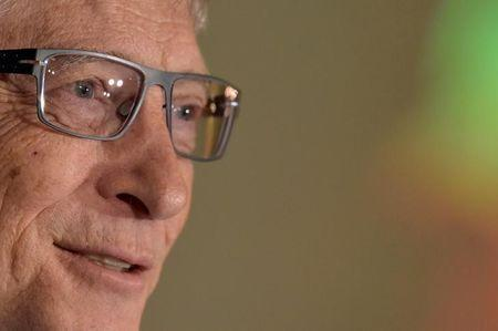 Microsoft founder Gates looks on during a healthcare event in Brussels