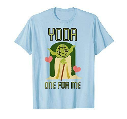 """<p><strong>Star Wars</strong></p><p>amazon.com</p><p><strong>$22.99</strong></p><p><a href=""""https://www.amazon.com/dp/B079J71BZF?tag=syn-yahoo-20&ascsubtag=%5Bartid%7C2141.g.30609393%5Bsrc%7Cyahoo-us"""" rel=""""nofollow noopener"""" target=""""_blank"""" data-ylk=""""slk:Shop Now"""" class=""""link rapid-noclick-resp"""">Shop Now</a></p><p>You love<em> Star Wars</em>, and she loves you, which means you 100% need to get her this Yoda T-shirt. (We're hoping they come out with a Baby Yoda version soon.) </p>"""