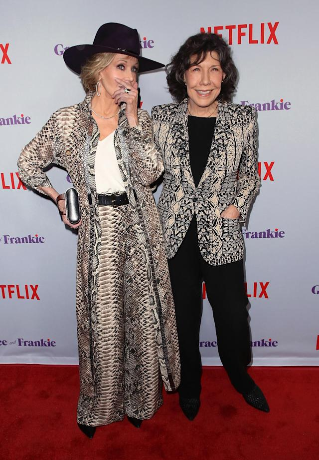 "Jane Fonda attends the premiere of Netflix's ""Grace and Frankie"" Season 4 at ArcLight Cinemas on January 18, 2018 in Culver City, California. (Photo: Getty Images)"
