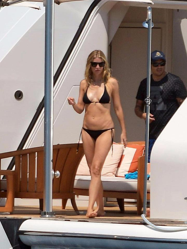 Gwyneth Paltrow was spotted on a luxury yacht on Monday in Saint Tropez.