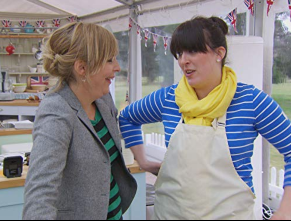 "<p>Whether you're safe from elimination or it's your last time on camera, every contestant is <a href=""https://www.bbcgoodfood.com/content/backstage-bake-0"" rel=""nofollow noopener"" target=""_blank"" data-ylk=""slk:interviewed by producers"" class=""link rapid-noclick-resp"">interviewed by producers</a> after a challenge ends. ""You're being interviewed about eight times a day, just so they've got every type of answer and every type of question has been asked,"" contestant Francis Quinn told <a href=""https://www.cosmopolitan.com/uk/entertainment/a46380/great-british-bake-off-tent-things-you-didnt-know/"" rel=""nofollow noopener"" target=""_blank"" data-ylk=""slk:Cosmopolitan UK"" class=""link rapid-noclick-resp""><em>Cosmopolitan UK</em></a>.</p>"