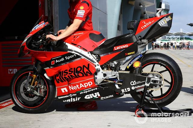 "Moto di Andrea Dovizioso, Ducati Team <span class=""copyright"">Gold and Goose / Motorsport Images</span>"
