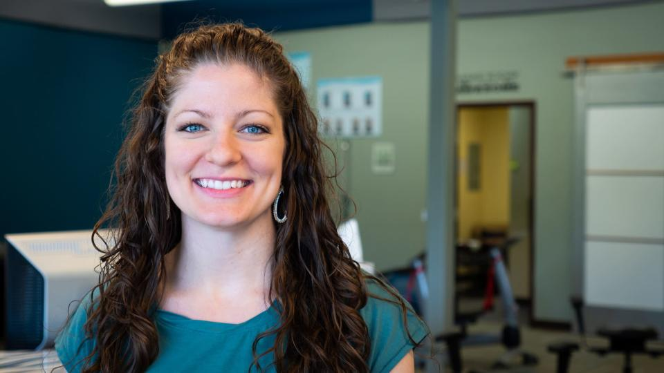Melody Blackwell still works full-time at Maryland Chiropractic while being a full-time mom. (Photo: Courtesy of Elizabeth Baker)