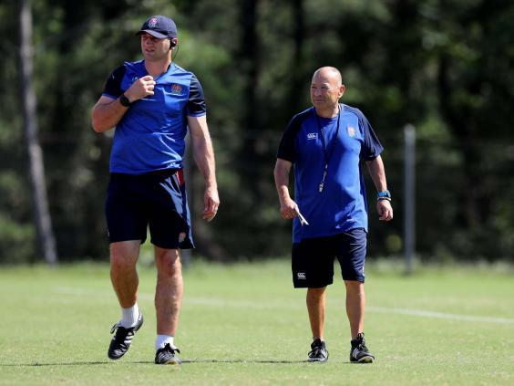 Steve Borthwick and Eddie Jones have previous experience of living through typhoons in Japan (Getty)
