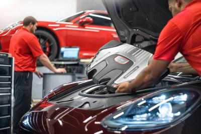 Students train in the Porsche Technician Apprenticeship Program (PTAP), offered in an exclusive partnership with Universal Technical Institute. Porsche pays students' tuition, relocation and housing costs for the 23-week program.
