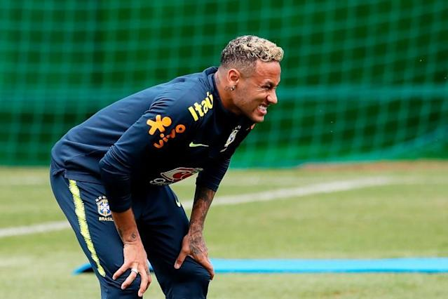 Neymar limps out of Brazil training injured following knock in World Cup 2018 opener