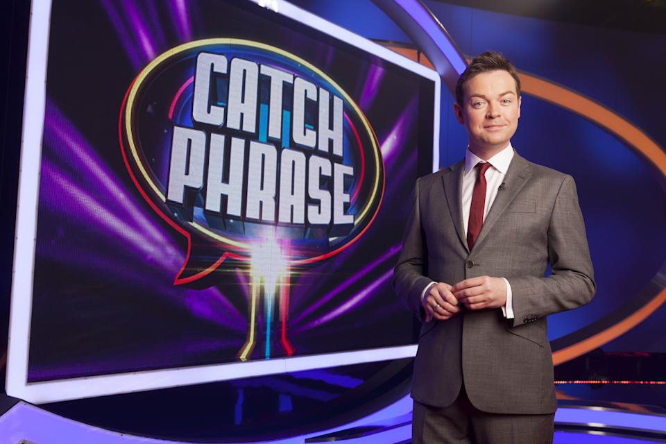 Stephen Mulhern presents Celebrity Catchphrase. (ITV)