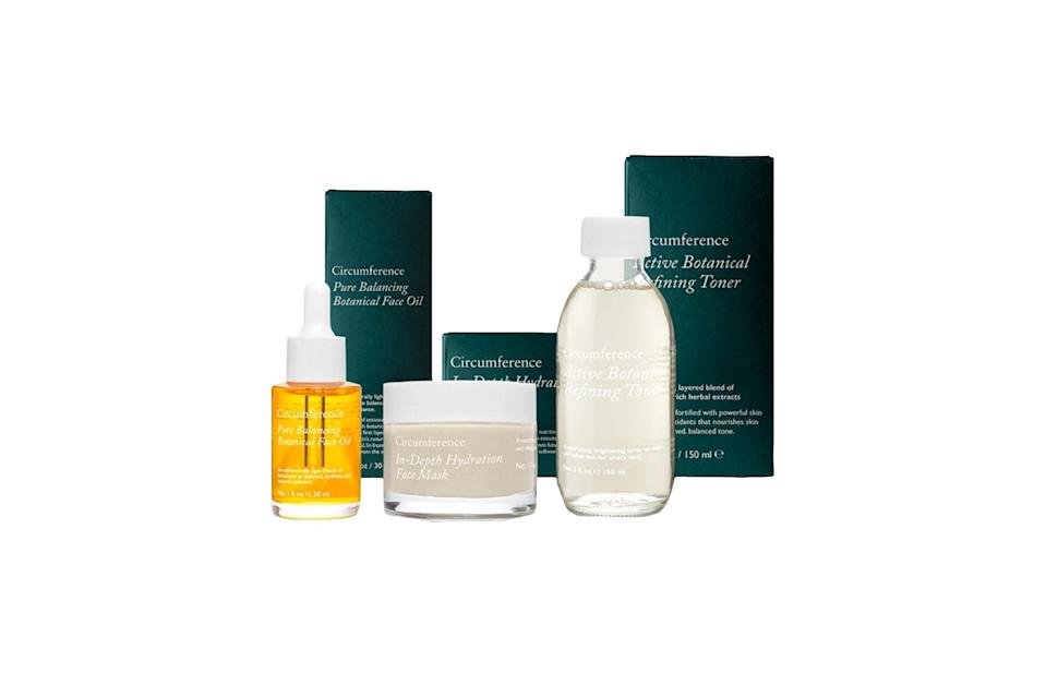 "$215, Circumference. <a href=""https://www.circumferencenyc.com/collections/shop-skincare/products/essential-hydration-set"" rel=""nofollow noopener"" target=""_blank"" data-ylk=""slk:Get it now!"" class=""link rapid-noclick-resp"">Get it now!</a>"