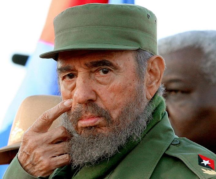 """Former Cuban president Fidel Castro defined himself in opposition to the American """"empire"""" (AFP Photo/)"""