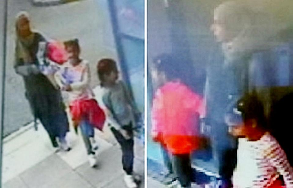 A mother and her two children went missing from a Travelodge in Newcastle-Under-Lyme, Staffordshire, say police (Picture: SWNS)