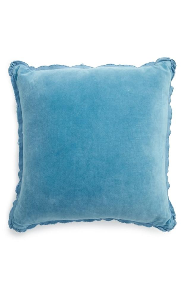 "$30, Nordstrom. <a href=""https://shop.nordstrom.com/s/treasure-bond-stonewash-velvet-accent-pillow/4728608?origin=category-personalizedsort&breadcrumb=Home%2FAnniversary%20Sale%2FHome&color=teal%20larkspur"">Get it now!</a>"