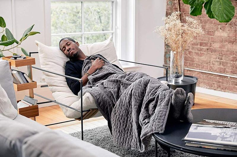 Next-level napping is what you'll get with the Gravity weighted blanket. (Photo: Amazon)