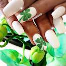 """<p>A sparkling green shamrock will certainly add some luck to your white manicure. If you don't have the artistic prowess to draw a shamrock free hand, a nail sticker will do the trick.<br></p><p><a href=""""https://www.instagram.com/p/BvIAMFNlm8X/&hidecaption=true"""" rel=""""nofollow noopener"""" target=""""_blank"""" data-ylk=""""slk:See the original post on Instagram"""" class=""""link rapid-noclick-resp"""">See the original post on Instagram</a></p>"""