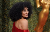 Tracee Ellis Ross arrives at the 73rd Primetime Emmy Awards on Sunday, Sept. 19, 2021, at L.A. Live in Los Angeles. (AP Photo/Chris Pizzello)