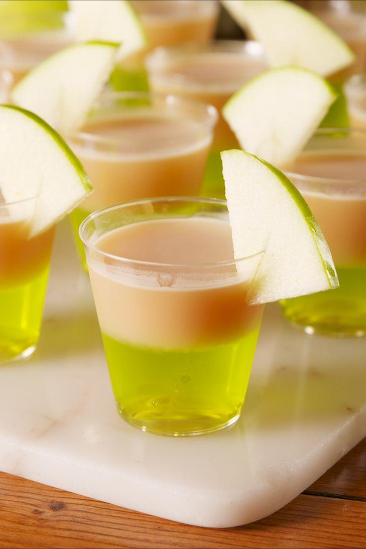"<p>Calls for Jolly Ranchers-infused vodka.</p><p>Get the recipe from <a href=""https://www.delish.com/cooking/recipe-ideas/a23121656/caramel-apple-jell-o-shots-recipe/"" rel=""nofollow noopener"" target=""_blank"" data-ylk=""slk:Delish"" class=""link rapid-noclick-resp"">Delish</a>.</p>"